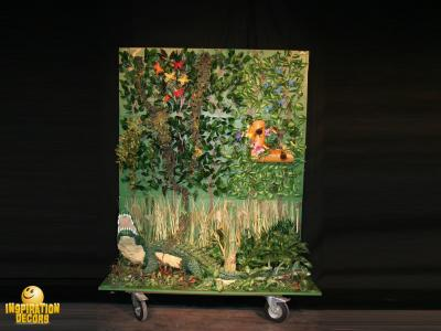 verhuur 3D decorkist decorwand jungle met krokodil huren